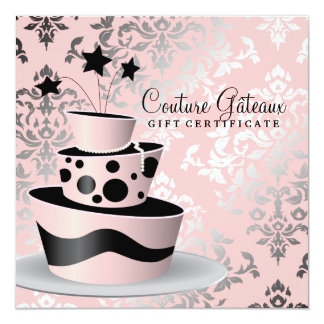 311 Couture Gâteaux Gift Certificate 13 Cm X 13 Cm Square Invitation Card