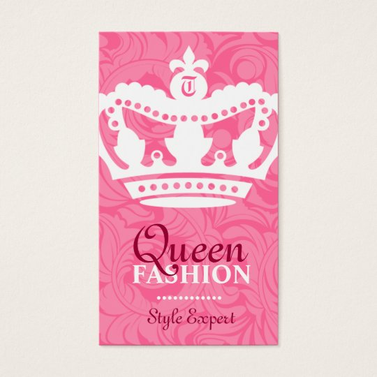 311-Crown Couture Monogram Business Card