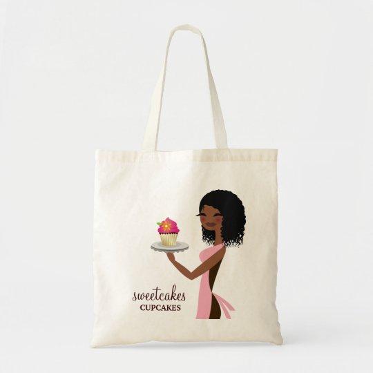 311 Cupcake Cutie African American Pink Tote Bag