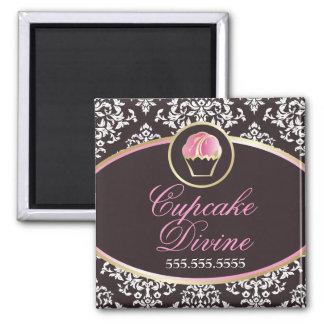 311-Cupcake Divine Solid Square Magnet