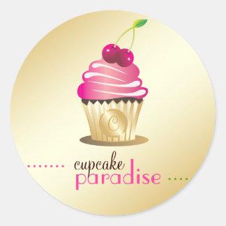 311-Cupcake Paradise Monogram Sticker