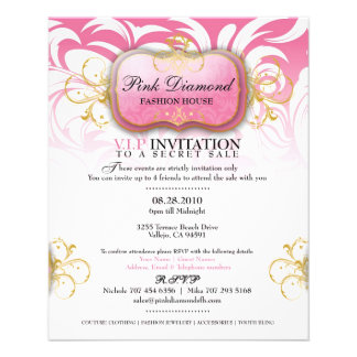 311-Custom Pink Diamond Fashion House 11.5 Cm X 14 Cm Flyer