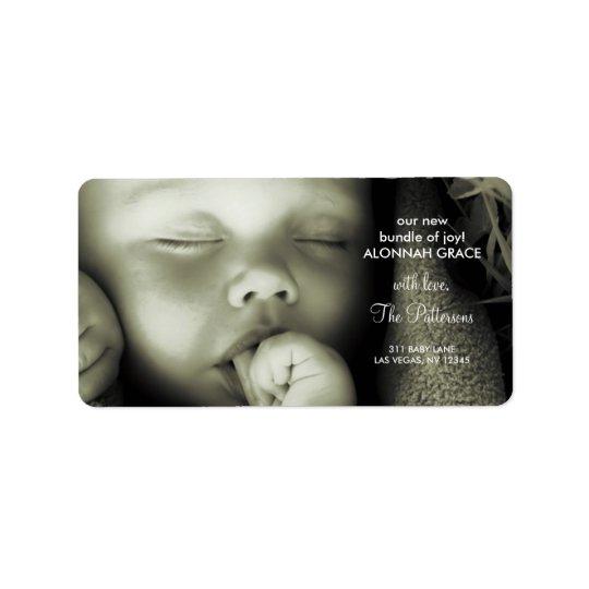 311-Customisable Baby Address Label