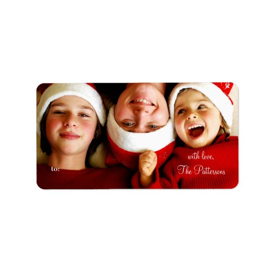 311 Customisable Christmas Photo Gift Tags