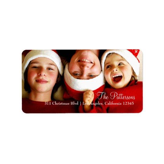 311 Customisable Christmas Photo Label