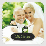 311 Customisable Square PhotoSticker w Name Plate Square Sticker