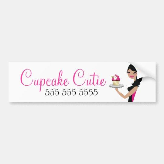 311 Daisy Cupcake Cutie Wavy Brunette Bumper Sticker