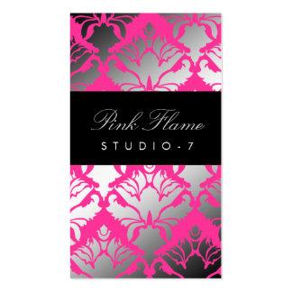 311 Damask Shimmer Pink Flame Pack Of Standard Business Cards