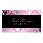 311 Damask Shimmer Pink Plush Black BowCertificate Pack Of Standard Business Cards