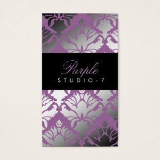 311 Damask Shimmer Purple Plush Business Card