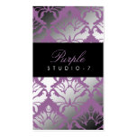 311 Damask Shimmer Purple Plush Pack Of Standard Business Cards