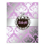 311-Damask Shimmer Queen Reception Card Invite