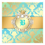 311-Damask Shimmer Queen Sweet 16 Turquiose Lime Announcement
