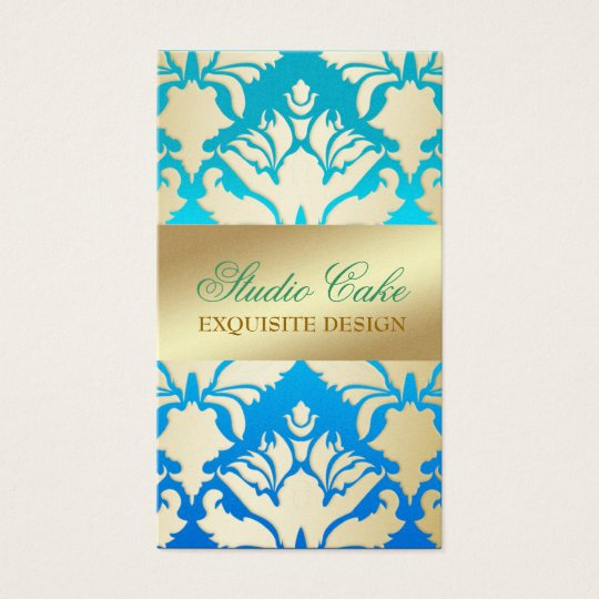 311 Damask Shimmer Tropical Blue Fade Business Card