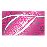 311 Dazzle Me Damask - T Monogram Pink Sizzle Pack Of Standard Business Cards