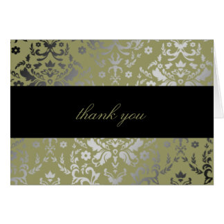 311 Dazzling Damask Alligator Thank You Card