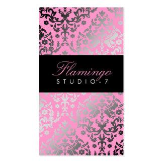 311 Dazzling Damask Flamingo Business Card
