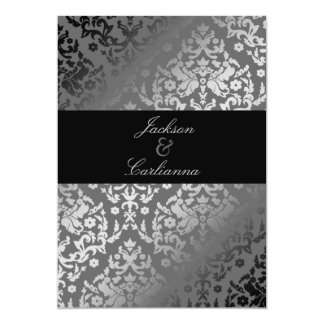 311-Dazzling Damask Gray Storm Invite
