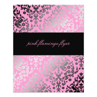 311-Dazzling Damask Pink Flamingo Flyer