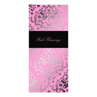311 Dazzling Damask Pink Flamingo Menu Full Colour Rack Card