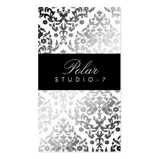 311 Dazzling Damask Polar Bear Business Cards