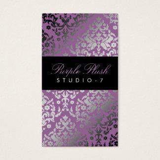 311-Dazzling Damask Purple Plush