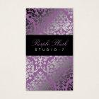 311-Dazzling Damask Purple Plush Business Card