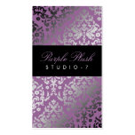 311 Dazzling Damask Purple Plush Business Card Templates