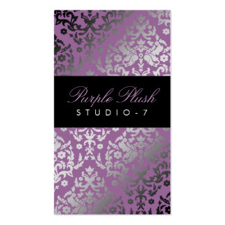 311 Dazzling Damask Purple Plush Pack Of Standard Business Cards