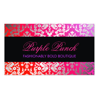 311 Dazzling Damask Purple Punch Business Card
