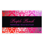 311 Dazzling Damask Purple Punch Pack Of Standard Business Cards
