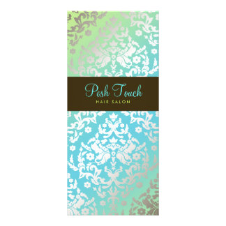 311 Dazzling Damask Turquoise & Lime Full Color Rack Card