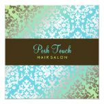 311 Dazzling Damask Turquoise & Lime Custom Announcement