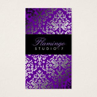 311-Dazzling Damask Vivacious Violet Business Card