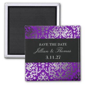 311-Dazzling Damask Vivacious Violet Magnet