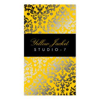 311 Dazzling Damask Yellow Jacket Business Card