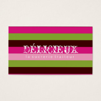 311-Delicieux Candy Stripes Business Card