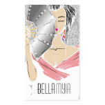 311-Diamond Geisha | Grey Shimmer Pack Of Standard Business Cards