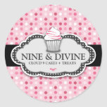 311 Divine Pink Polka Dot Cupcakes Stickers