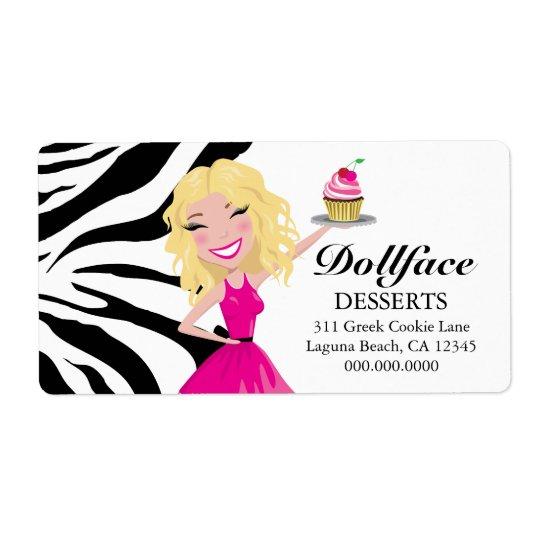 311 Dollface Desserts Blondie Zebra Print