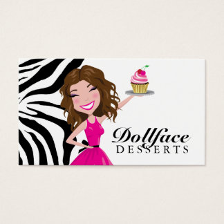 311 Dollface Desserts Brownie Zebra Business Card