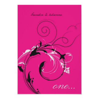 311-Dotted Desire |  Hott Pink 13 Cm X 18 Cm Invitation Card