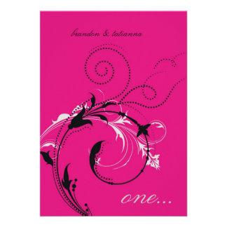 311-Dotted Desire Hott Pink Invite