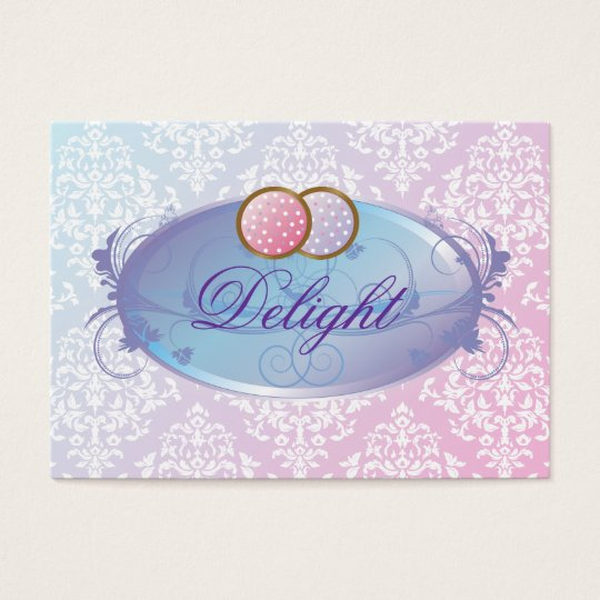 311-Dreamy Purple Delight Cookies Business Card