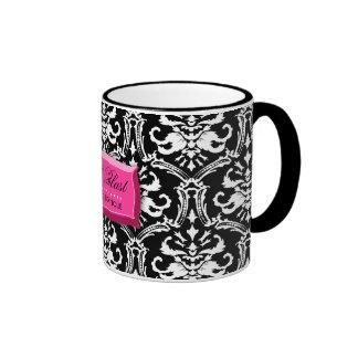 311-Elegant Pink BlastDamask Coffee Mug
