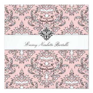 311-Emmy Peach Damask Invitation