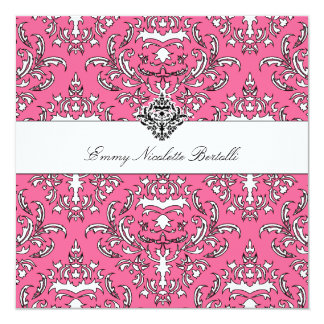311-Emmy Pink Delish Damask Invitation