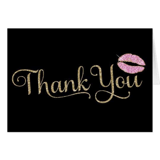 311 Faux Glitter Thank You 2 with Lips