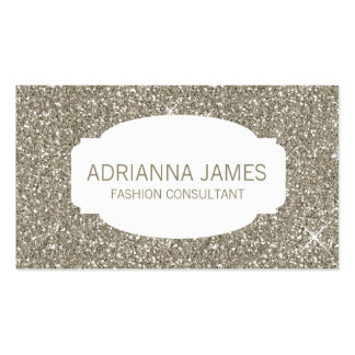 311 Faux Gold Sparkle Glitter Pack Of Standard Business Cards