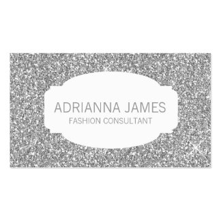 311 Faux Silver Sparkle Glitter Pack Of Standard Business Cards